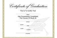 40+ Graduation Certificate Templates & Diplomas – Printable within College Graduation Certificate Template
