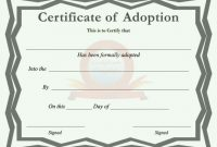 40+ Real & Fake Adoption Certificate Templates – Printable for Adoption Certificate Template