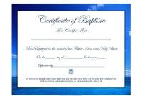 47 Baptism Certificate Templates (Free) – Printable Templates within Baptism Certificate Template Word