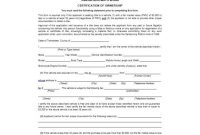 47 Certificate Of Ownership Templates [Instant Download] in Ownership Certificate Template