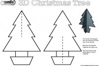 5 Best Images Of 3D Christmas Tree Printable Templates – 3D Throughout 3D Christmas Tree Card Template