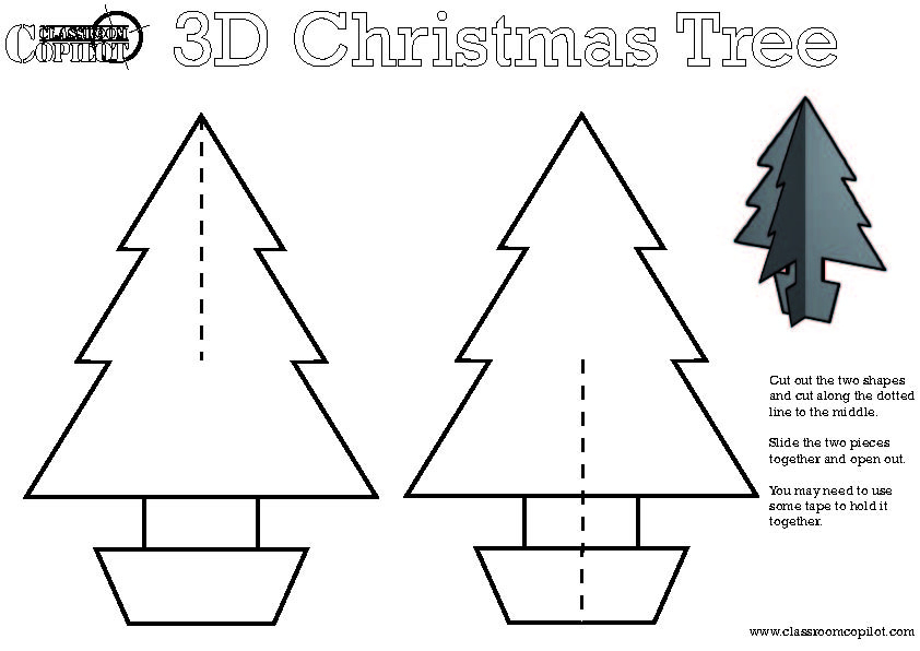 5 Best Images Of 3D Christmas Tree Printable Templates - 3D throughout 3D Christmas Tree Card Template