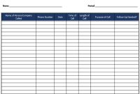 5+ Call Log Templates To Keep Track Your Calls with Gift Certificate Log Template