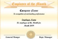 5+ Employee Of The Month Certificate Templates – Word, Pdf, Ppt intended for Employee Of The Month Certificate Template With Picture