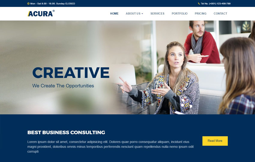 50 Best Free Html5 Templates For Corporate Business Intended For Basic Business Website Template