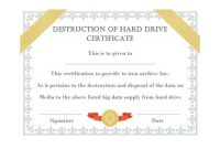 52 Useful Certificates Of Destruction (& Examples regarding Destruction Certificate Template