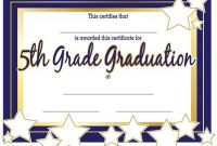 5Th Grade Graduation Certificates | 5Th Grade Graduation with regard to 5Th Grade Graduation Certificate Template