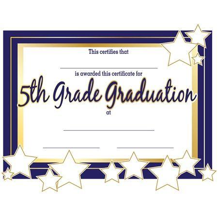 5Th Grade Graduation Certificates | 5Th Grade Graduation with regard to 5Th Grade Graduation Certificate Template