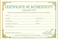 6+ Certificate Of Authenticity Templates In 2020 for Workstation Authentication Certificate Template