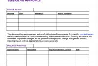 6 Free Business Requirements Document Templates For with regard to Business Requirement Document Template Simple