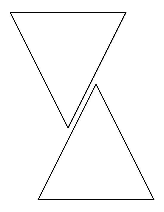 6 Inch Triangle Pattern. Use The Printable Outline For Regarding Free Triangle Banner Template