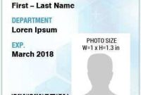 70 Id Card Template Portrait In Word For Id Card Template with Portrait Id Card Template