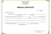 8 Free Sample Medical Certificate Templates – Printable Samples with regard to Free Fake Medical Certificate Template