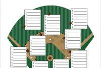 9+ Baseball Line Up Card Templates – Doc, Pdf, Psd, Eps with regard to Free Baseball Lineup Card Template