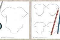 9 Free Printable Baby Onesie Outline Templates – The Artisan for Diy Baby Shower Banner Template