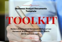 9 Important Documents Createdevery Business Analyst with regard to Business Analyst Documents Templates