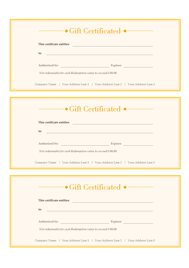 A Free Customizable Gift Voucher Template Is Provided To intended for Custom Gift Certificate Template