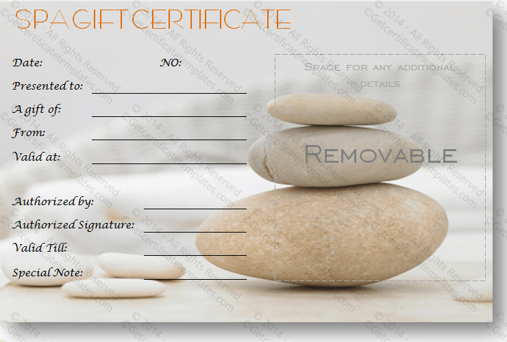 A Simple Day At The Spa Gift Certificate Template | Free regarding Spa Day Gift Certificate Template
