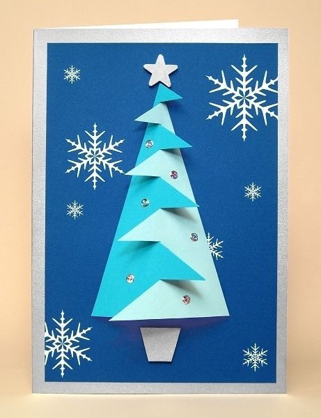 A4 Card Making Templates For 3D Christmas Tree Embellishment for 3D Christmas Tree Card Template