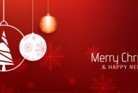 Abstract Beautiful Merry Christmas Banner Template | Free Vector intended for Merry Christmas Banner Template