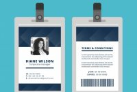Abstract Id Card Template With Geometric Style | Free Vector throughout Portrait Id Card Template