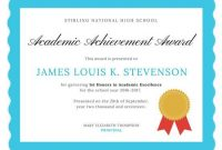 Academic Excellence Certificate | Awards Certificates with regard to Academic Award Certificate Template