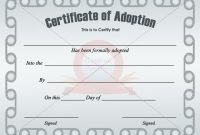 Adoption Certificate Template | Adoption Certificate throughout Adoption Certificate Template