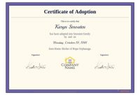 Adoption Certificate Template – Pdf Templates | Jotform with Adoption Certificate Template