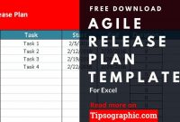 Agile Release Plan Template For Excel, Free Download for Business Plan Template Excel Free Download