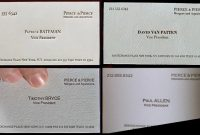 All The Business Cards From American Psycho And There's A with regard to Paul Allen Business Card Template