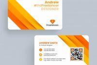 Andrew Freelance Designer Business Card Template Or Visiting intended for Designer Visiting Cards Templates