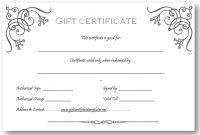 Art Business Gift Certificate Template | Gift Certificate in Custom Gift Certificate Template