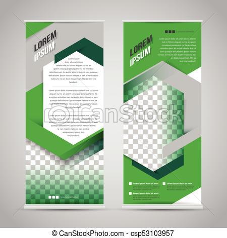 Auf, Grün, Stehen, Schablone, Design, Banner, Rolle pertaining to Banner Stand Design Templates