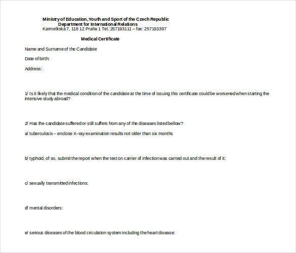 Australian Doctors Certificate Template (3 throughout Australian Doctors Certificate Template