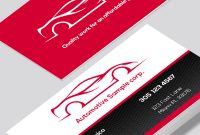 Automotive Business Cards For The Mechanic Or Detailer with Automotive Business Card Templates