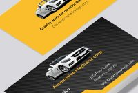 Automotive Mechanic Business Card – Modern Design with regard to Automotive Business Card Templates