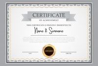 Award Certificate Design Template (8) – Templates Example pertaining to Award Certificate Design Template