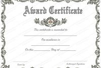 Award Certificate (Royal, #951) In 2020 | Award Certificates in Microsoft Word Award Certificate Template