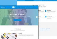 B-Hero – Enthralling Free Html5 Bootstrap 4 Business Website Template regarding Template For Business Website Free Download