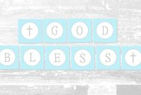 Baby Boy Baptism Banner | Free Printable | A Slice Of Ky for Christening Banner Template Free