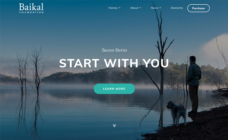 Baikal - Html5 Bootstrap 4 Template For Startups & Business Website pertaining to Website Templates For Small Business