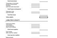 Balance Sheet Form | Balance Sheet, Small Business In Small Business Balance Sheet Template