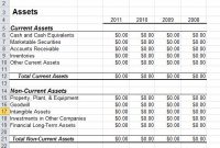 Balance Sheet Template In Excel in Small Business Balance Sheet Template
