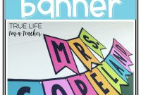 Banner Template {All Caps} | Classroom Banner, 3Rd Grade in Classroom Banner Template