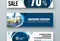 Banner Template Design. Presentation Concept. Blue Corporate inside Banner Stand Design Templates
