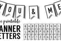 Banner Templates Free Printable Abc Letters | Paper Trail Design regarding Printable Letter Templates For Banners