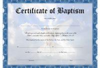 Baptism Certificate – Free Printable – Allfreeprintable regarding Baptism Certificate Template Word