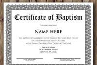 Baptism Certificate Template – Microsoft Word Editable pertaining to Baptism Certificate Template Word