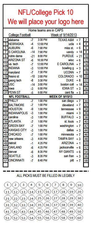 Bar Parlay Cards - Printable Parlay Cards throughout Football Betting Card Template