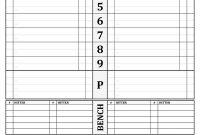 Baseball Lineup Card Template – Free Download | Baseball inside Free Baseball Lineup Card Template